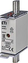 Предохранитель ETI NH-000 gL/gG 2A 500V KOMBI 120kA 4181201 ножевой универсальный (NH-00C)