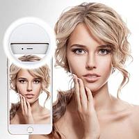 Вспышка-подсветка светодиодная для телефона селфи-кольцо Selfie Ring Ligh RK-12