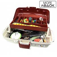 Ящик для рыболовных снастей, контейнер для рыбалки 1 полочка и ручка для транспортировки