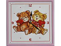 """Набор для вышивания под часы """"Медвежата"""" 37*37 см"""