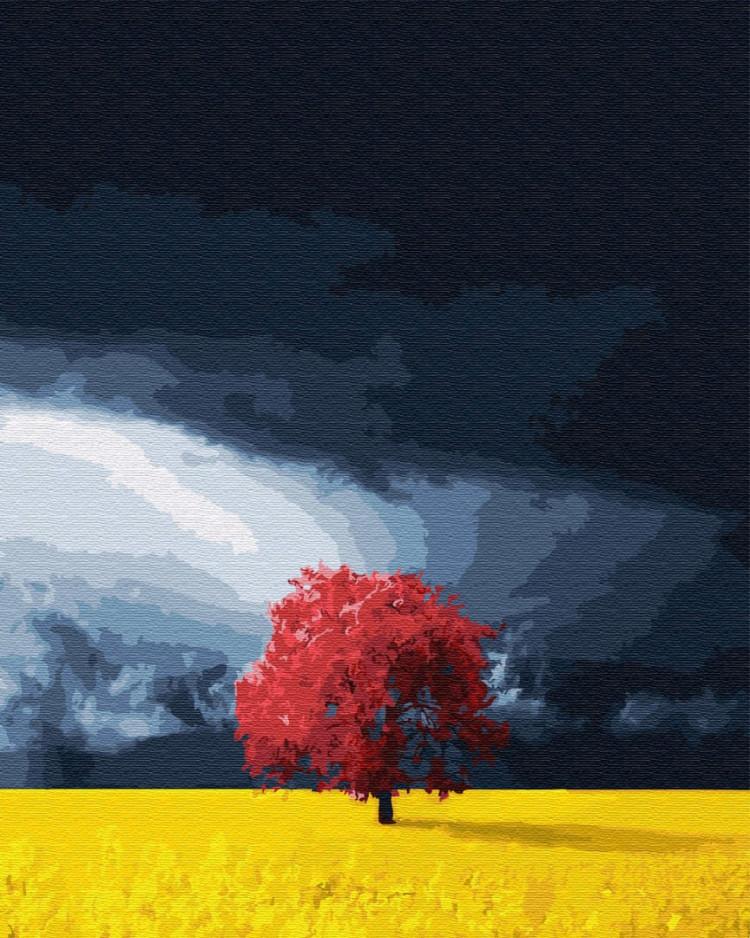 """Картина по номерам. Brushme """"Поле перед грозой"""", GX28666"""