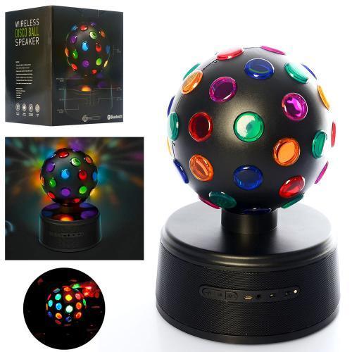 Колонка диско-шар, bluetooth, MP3, USBзарядное, SG-1507