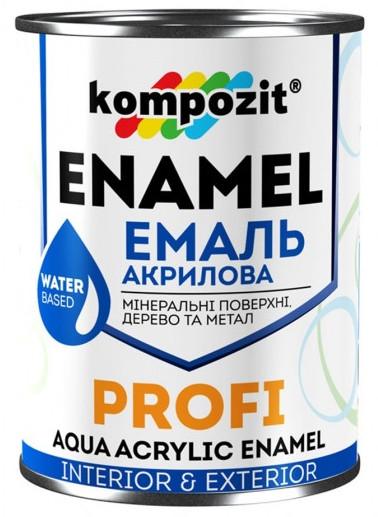 Эмаль акриловая Kompozit Profi (0.3 л) Белая Глянцевая