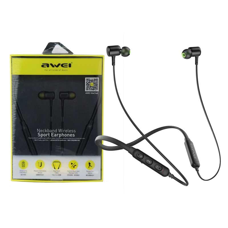 Bluetooth наушники HF AWEI, Black, G30BL-BK