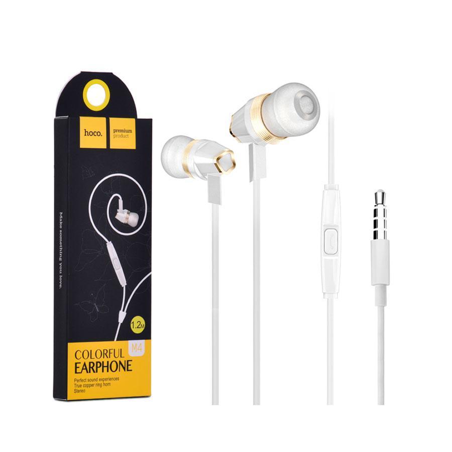 Навушники HF hoco, White, M4