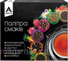Набір чаю пакетований Askold Палітра смаків 6 видів 36 шт