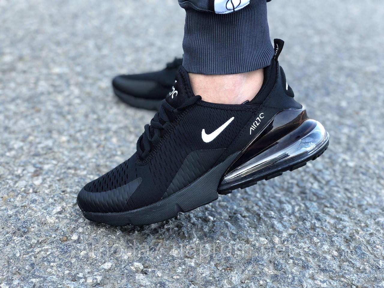 Мужские кроссовки реплика Nike Air Max 270 черные