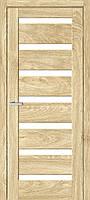 "Двері міжкімнатні ОМіС ""RINO 07G"" дуб Саванна + скло (Natural Look)(600,700,800,900 мм)"