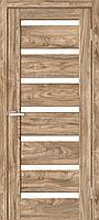 """Двері міжкімнатні ОМіС """"RINO 07G"""" дуб Ориндж + скло (Natural Look)(600,700,800,900 мм)"""