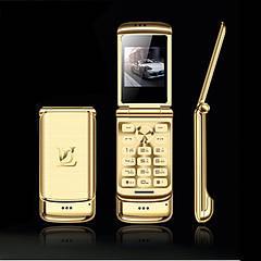 Флип-телефон Ulcool V9, 1,54 дюймов, две sim-камеры, MP3, Bluetooth, FM, анти-потеря, металлический корпус