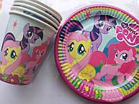 Набор My Little Pony 5 тарелочек 5 стаканчиков