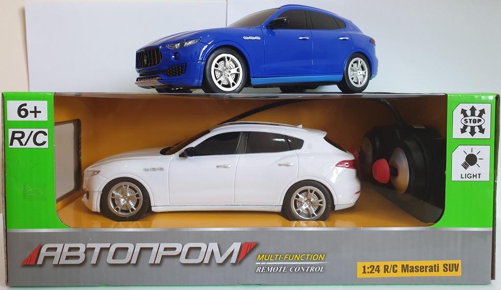 "Машина ""R/C MASERATI SUV LEVANTE MY 2017"", ""АВТОПРОМ"", на р/у, 2 кольори, 8818"