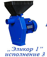 Измельчитель зерна и кормов-крупорушка Электромотор Эликор-1, исполнение.3