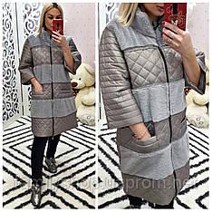 Женское весеннее пальто большого размера