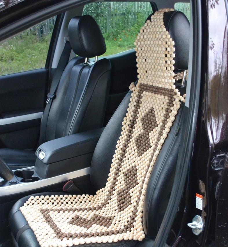 Деревянный массажер на водительское сиденье (Лакированный) Гарантия качества
