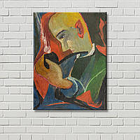 Козак на картине Картина на холсте Настенный декор Абстрактная картина Дизайн комнаты Декорация стен