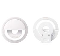 Светодиодное селфи LED кольцо для телефона с USB-зарядкой Selfie Ring Light RK-12 белое