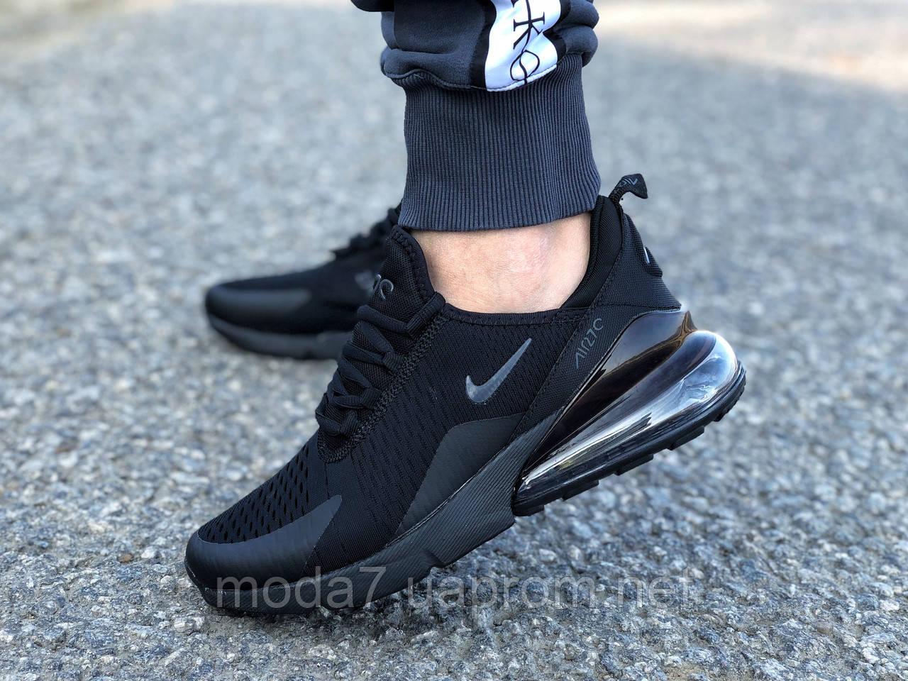 Мужские кроссовки реплика Nike Air Max 270 черные 1