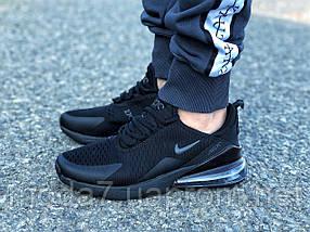 Мужские кроссовки реплика Nike Air Max 270 черные 1, фото 3