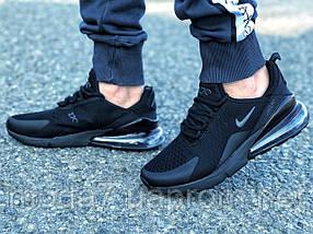 Мужские кроссовки реплика Nike Air Max 270 черные 1, фото 2