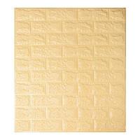 Листовые 3D панели для декора стен -Бежевый кирпич (Самоклеющийся)