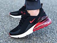 Мужские кроссовки реплика Nike Air Max 270 черные/красные 44р