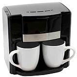Кофеварка на две чашки 500Вт Rainberg, фото 3