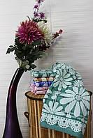 Полотенце банное лен Ромашка (уп. 6 шт.), фото 1