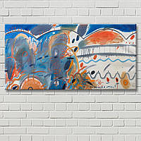 Синяя картина Керестей Картина на холсте Настенный декор Абстрактная картина Дизайн комнаты Декорация стен