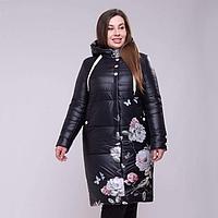 """Демисезонное пальто с капюшоном """"Рози"""" рр 48-60"""