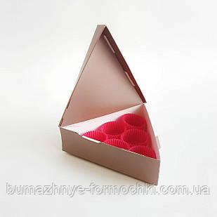 """Коробка для 6 конфет """"Треугольник"""", коричневый металлик"""