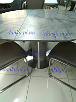 Раздвижной стол ТМL-670 серый под мрамор 110/150 от Vetro Mebel