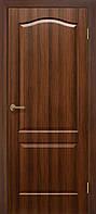 Двері міжкімнатні ОМіС класика ПГ горіх глухі (ПВХ) (600,700,800,900 мм)