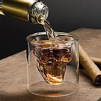 Оригінальний стакан у вигляді черепа Skull Glass / Оригинальный стакан в виде черепа (череп трехмерный Doom)