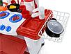 Игровая детская кухня, плита, посуда, продукты со звуковыми и световыми эффектами, фото 4