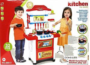 Ігрова дитяча кухня, плита, посуд, продукти зі звуковими і світловими ефектами