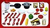 Игровая детская кухня, плита, посуда, продукты со звуковыми и световыми эффектами, фото 6