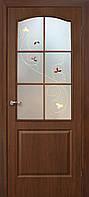 Двері міжкімнатні ОМіС класика СС+КР горіх + скло (ПВХ) (600,700,800,900 мм)
