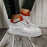 Високі кросівки жіночі Натуральна шкіра Можливий відшиваючи у інших кольорах, фото 9