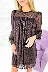 Короткое шифоновое платье на кокетке оверсайз (9879), фото 6