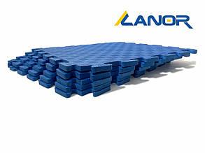 Lanor Детский мягкий пол-пазл 500*500*12мм EVA синий