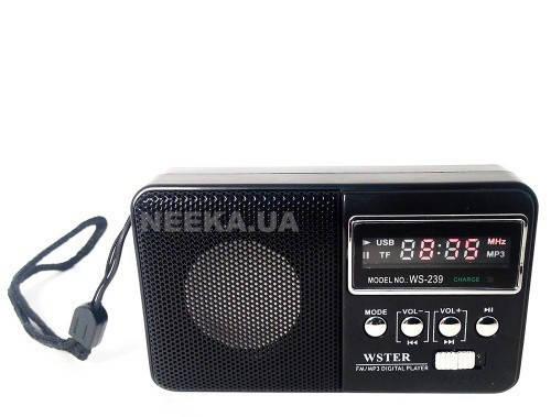 Мини Приемник WS-239 USB SD MP3 Цифровой Радио-приемник сканер )Цифровой дисплей литиевая батарея, фото 2