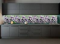Кухонний фартух Весняне цвітіння повнокольоровий фотодрук наклейка на стіну кухні квіти вишні ветка600*2500 мм, фото 1