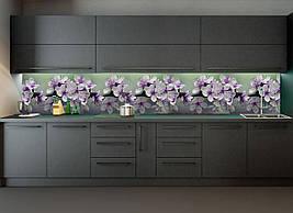 Кухонный фартук Весеннее цветение (полноцветная фотопечать наклейка на стеновую панель кухни цветы вишни ветка