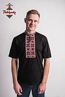 Чоловіча вишиванка Оберіг червоно-сіра, фото 1
