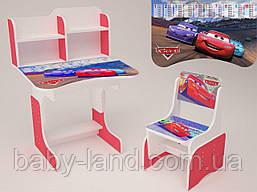 "Парта-стіл дитяча шкільна растишка ""Тачки"" Червона 09"