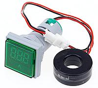 Вольтметр/амперметр переменного тока AC 22мм 60-500В 0-100А - зеленый, фото 1