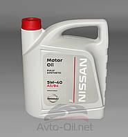 Масло моторное Nissan Motor Oil 5w-40 5л, фото 1