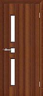 Двері міжкімнатні ОМіС комфорт горіх + скло (ПВХ) класика (600,700,800,900 мм)