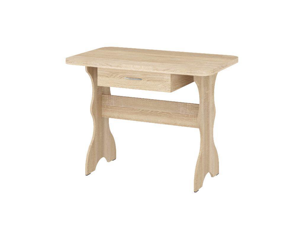 Кухонный Стол Простой (с ящиком) Дуб Сонома